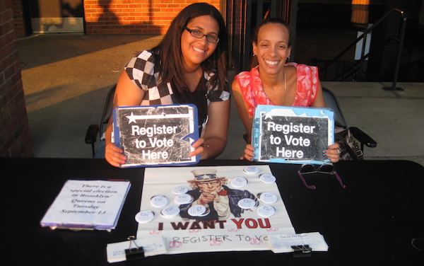 Get In The Game voter registration for sports fans at sporting events