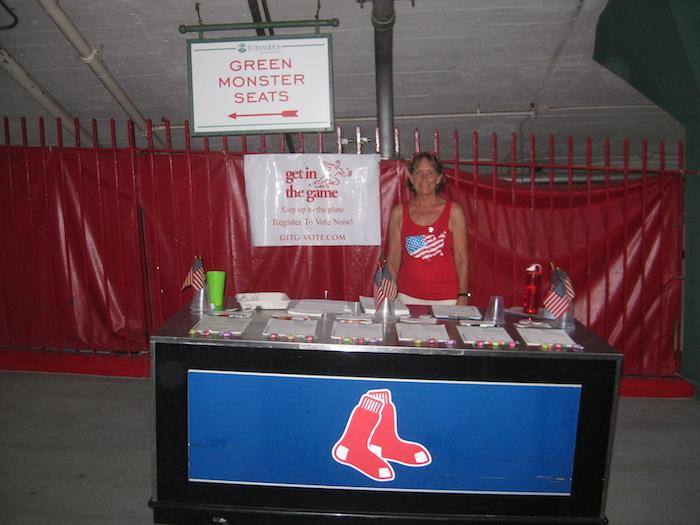 GITG registering voters at Fenway in Boston